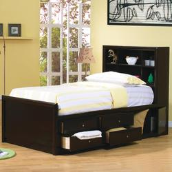 Phoenix Twin Bookcase Bed with Underbed Storage