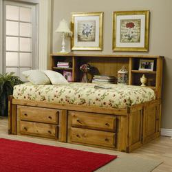 Wrangle Hill Twin Bookcase Bed with Under-Bed Storage