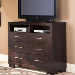 Jessica 6 Drawer TV Chest with Shelves