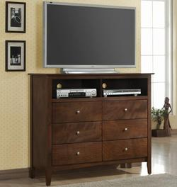 Tamara Media Chest with 6 Drawers and 2 Compartments