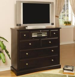 Harbor Transitional Media Chest with Component Storage