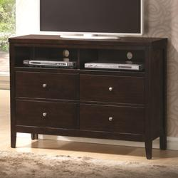 Carlton Media Chest with 2 Shelves and 4 Drawers