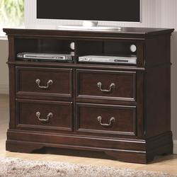 Cambridge 4 Drawer Media Chest with Open Storage