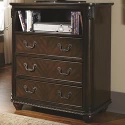 Luciana Media Chest with 3 Drawers and 1 Shelf