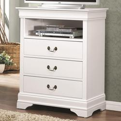 Louis Philippe 204 3 Drawer Media Chest with Open Compartment