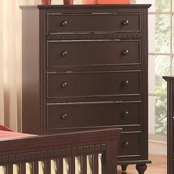 Oliver 5 Drawer Chest with Turned Feet and Large Dentil Moulding