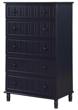 Zachary 5 Shelf Chest of Drawers with Cottage Style Design