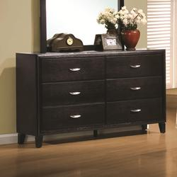 Nacey Stained Black 6 Drawer Dresser