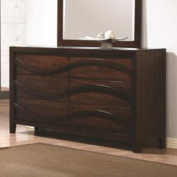 Loncar Contemporary Wave Dresser with Six Drawers