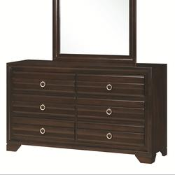 Bryce 20347 6-Drawer Dresser with Silver-Brushed Hardware