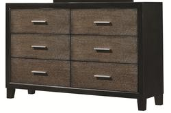 Landon Rustic 6 Drawer Dresser with Two-Toned Finish