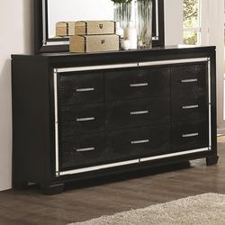 Zimmer 9-Drawer Dresser with Rhinestone Hardware