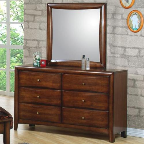 Coaster Hillary And Scottsdale Contemporary Youth 6 Drawer Dresser And Mirror