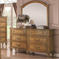 Emily Oak Drawer Dresser w/ Landscape Mirror