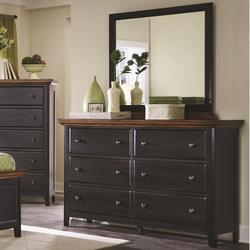 Mabel 6 Drawer Dresser and Mirror Set