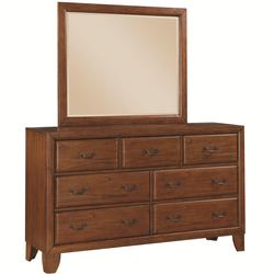 Willow Creek Dresser with 7 Drawers and Mirror