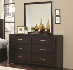 Palmetto 6-Drawer Dresser and Rectangular Mirror Combination