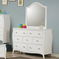 Dominique Drawer Dresser with Mirror