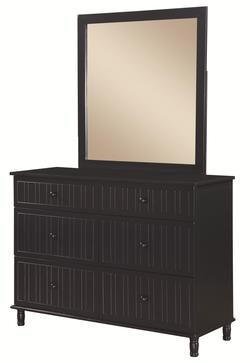 Zachary 6 Drawer Dresser and Mirror Set with Cottage Style Design