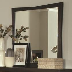 Rolwing Beveled Mirror with Wood Frame