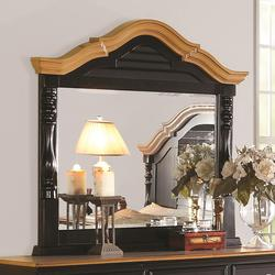 Oleta Mirror with Arched Frame and Shutter Detail