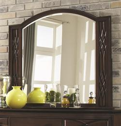 Salisbury Beveled Glass Mirror with Carved Wood Frame