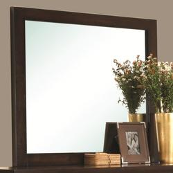Cameron Square Mirror with Wooden Frame