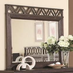 Grayson Rectangular Mirror with Detailed Wooden Frame