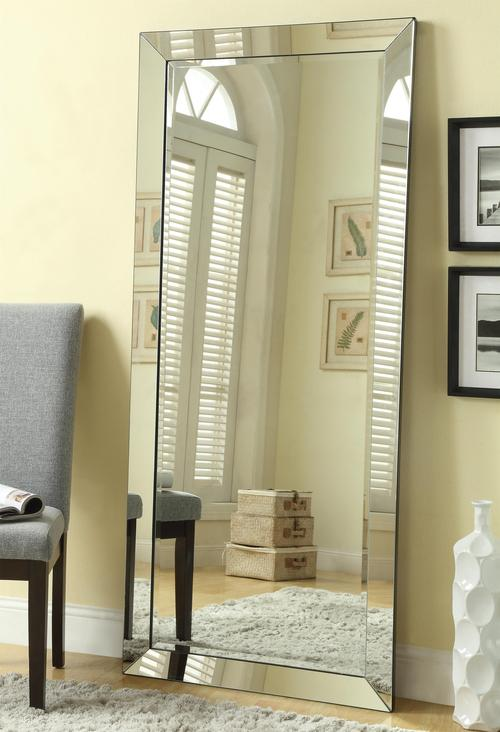 Coaster Accent Mirrors Contemporary Floor Mirror with Mirrored Frame