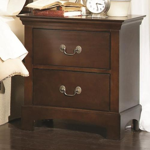 coaster tatiana transitional two drawer night stand