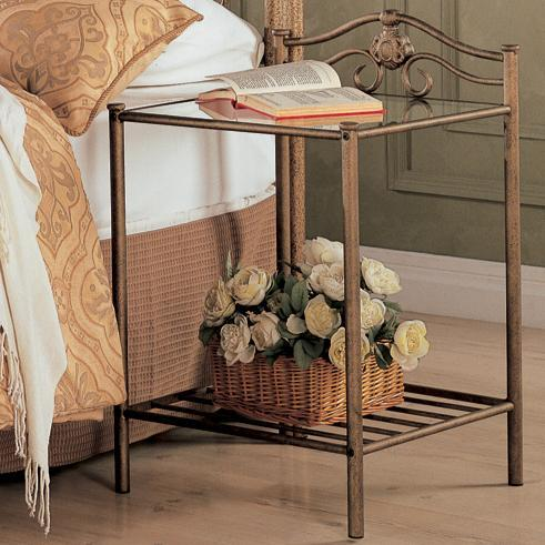 Coaster Sydney Transitional Iron Nightstand With Shelf