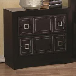 Elijah Night Stand with 2 Leatherette Front Drawers