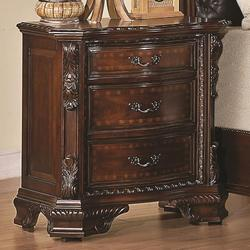 Maddison Nightstand with Carved Wood Detailing