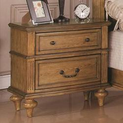 Emily Oak Nightstand w/ 2 Drawers