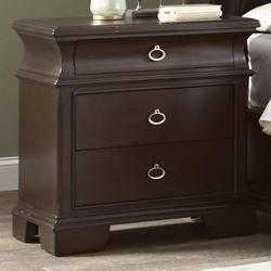 Kurtis 3 Drawer Night Stand with Block Feet