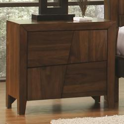 Joyce 2 Drawer Night Stand w/ Tapered Legs