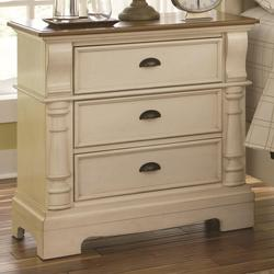 Oleta Night Stand with 3 Drawers and Bracket Feet