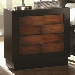 Rolwing Two-Tone Night Stand with 2 Drawers