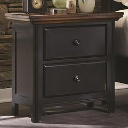 Mabel 2 Drawer Nightstand with Tapered Feet