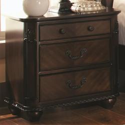 Luciana Night Stand with 3 Drawers