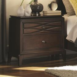 Salisbury 2 Drawer Night Stand with Tapered Wood Feet