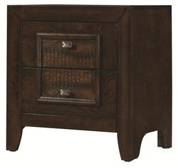 Marshall Contemporary Style Night Stand with Framed Faux Croc Design