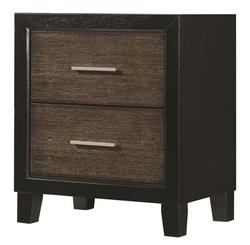 Landon Rustic 2 Drawer Night Stand with Two-Toned Finish