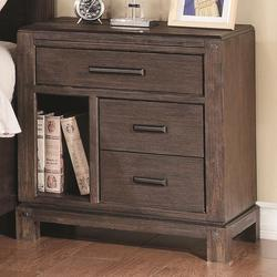 Grayson Night Stand with 3 Drawers and Open Storage Space