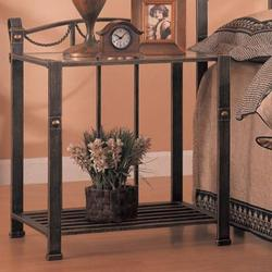 Georgia Casual Iron Nightstand with Shelf