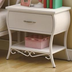 Bella Youth White Night Stand