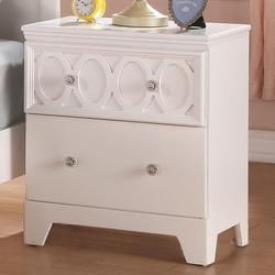 Madeline 2 Drawer Night Stand w/ Tapered Legs