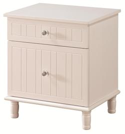 Bethany Cottage Style Night Stand with Crystal Knobs