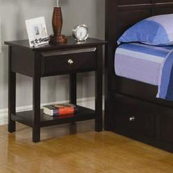 Jasper Night Stand with 1 Drawer and 1 Shelf