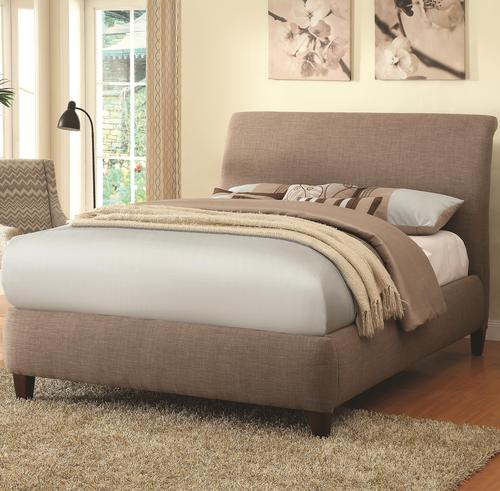 upholstered beds levine upholstered platform queen bed with taupe curved headboard
